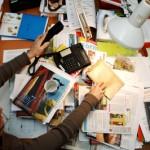 bureau encombré