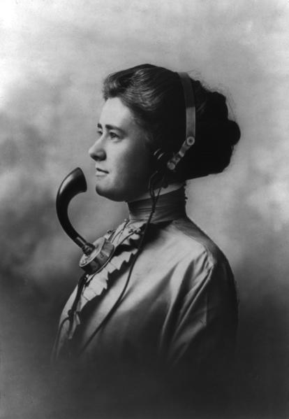opératrice téléphone 1911