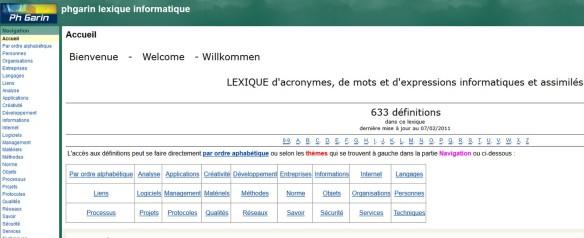 lexique informatique de Philippe Garin