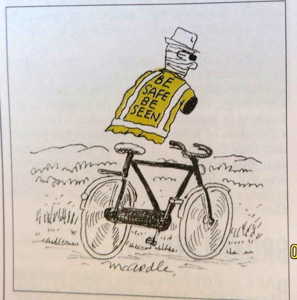homme invisible à vélo
