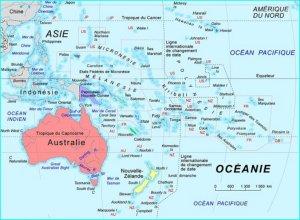carte des pays en Océanie