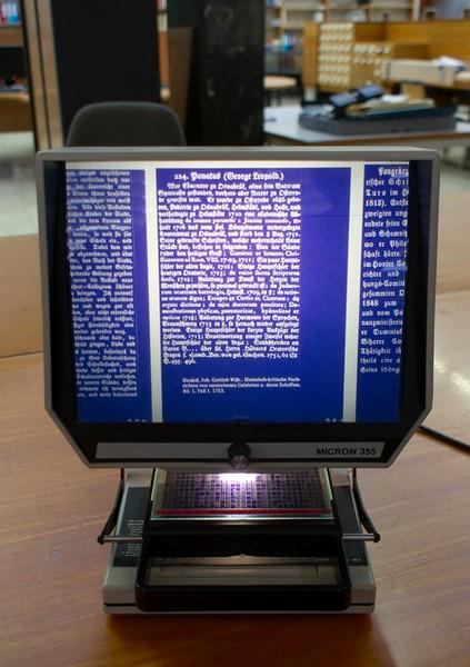 liseuse de microfiches