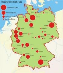Les villes allemandes