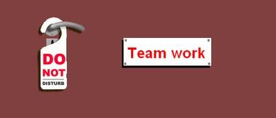 Ne pas déranger équipe au travail