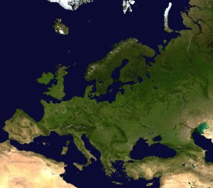 carte du relief de l'Europe