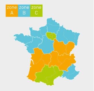 zones scolaires en France métropolitaine