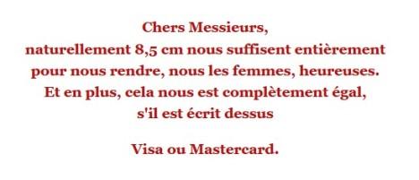 visa ou martercard