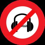 casque et écouteurs interdits