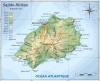 carte topographique de l'île Sainte-Hélène