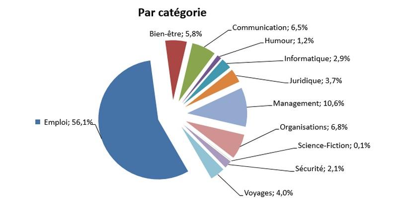 répartition par catégorie des 1500000 visites du blog de Philippe Garin