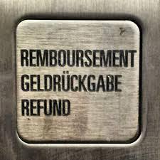 remboursement geldrückgabe refund