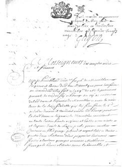 lettre du 17ème siècle