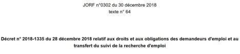 décret n° 2018-1335 publié le 30 décembre 2018