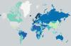 carte du monde le nombre de jours de congés