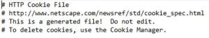exemple de cookie