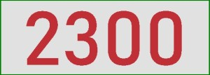 2300 en rouge
