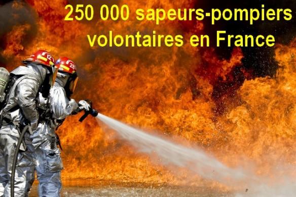 250 000 sapeurs-pompiers volontaires en France